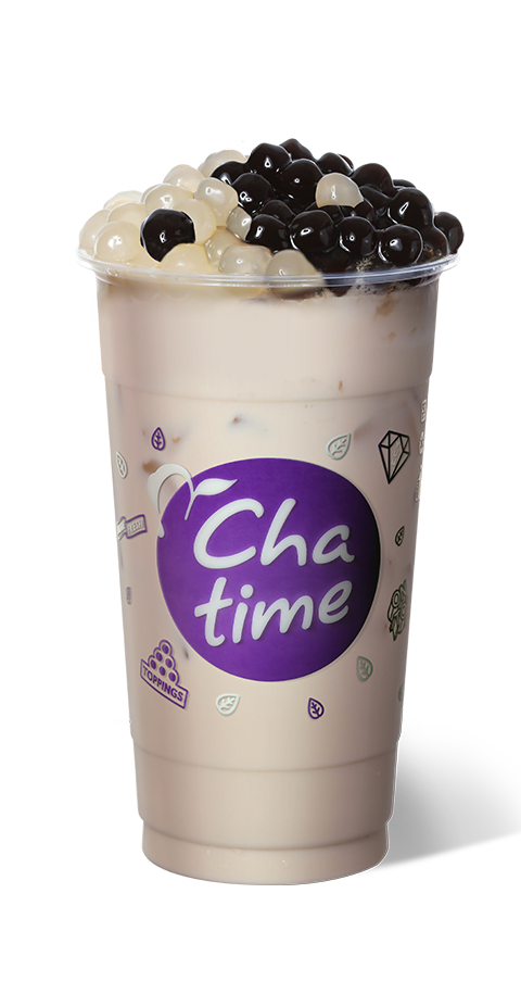 Black and White Pearl Milk Tea